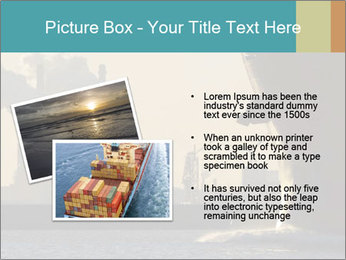 A ship entering the port PowerPoint Template - Slide 20
