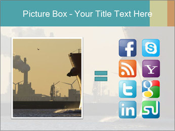 A ship entering the port PowerPoint Template - Slide 21