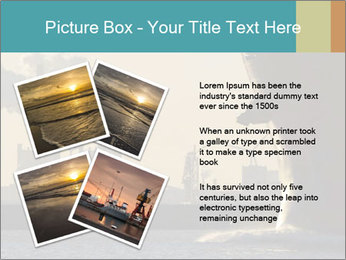 A ship entering the port PowerPoint Template - Slide 23