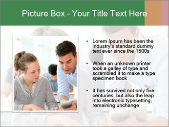 Teacher with student PowerPoint Template - Slide 13