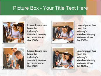 Teacher with student PowerPoint Template - Slide 14