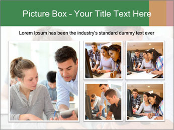 Teacher with student PowerPoint Template - Slide 19