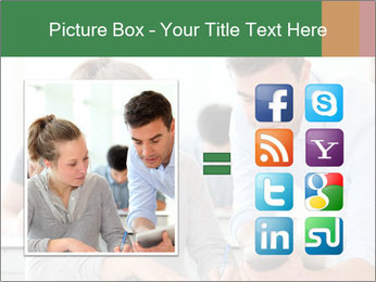 Teacher with student PowerPoint Template - Slide 21