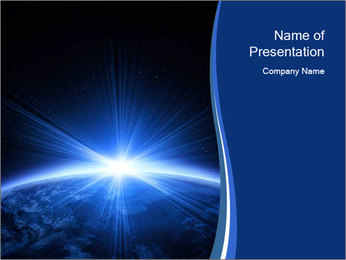 Planet earth PowerPoint Template - Slide 1
