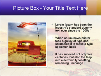 Truck with American flag PowerPoint Template - Slide 13