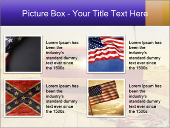 Truck with American flag PowerPoint Template - Slide 14