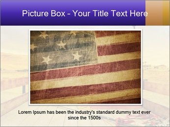 Truck with American flag PowerPoint Template - Slide 15