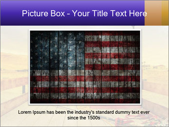 Truck with American flag PowerPoint Template - Slide 16