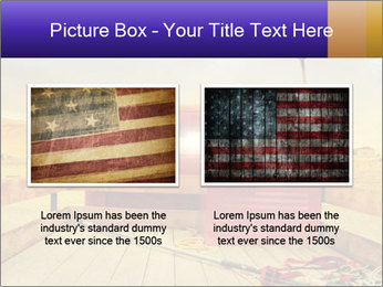 Truck with American flag PowerPoint Template - Slide 18