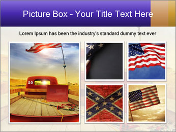 Truck with American flag PowerPoint Template - Slide 19