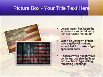 Truck with American flag PowerPoint Template - Slide 20