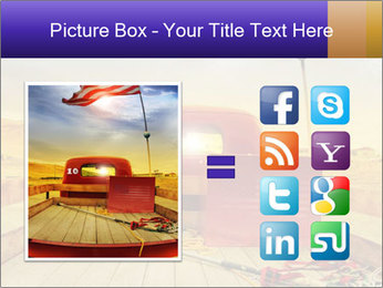 Truck with American flag PowerPoint Templates - Slide 21