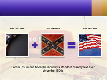 Truck with American flag PowerPoint Template - Slide 22