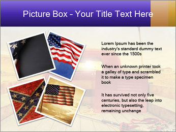Truck with American flag PowerPoint Template - Slide 23
