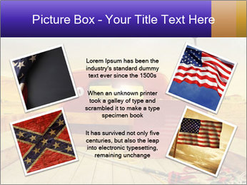 Truck with American flag PowerPoint Template - Slide 24