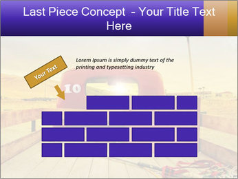 Truck with American flag PowerPoint Template - Slide 46