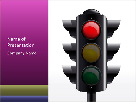Traffic Light Red Powerpoint Template Backgrounds Google Slides
