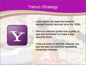 Women doing yoga PowerPoint Template - Slide 11
