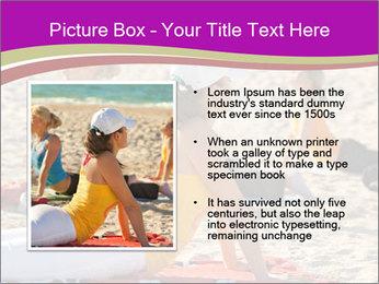 Women doing yoga PowerPoint Template - Slide 13