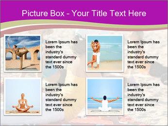 Women doing yoga PowerPoint Template - Slide 14