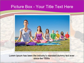 Women doing yoga PowerPoint Template - Slide 16