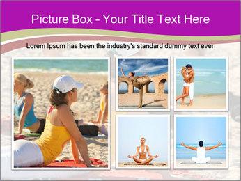 Women doing yoga PowerPoint Template - Slide 19