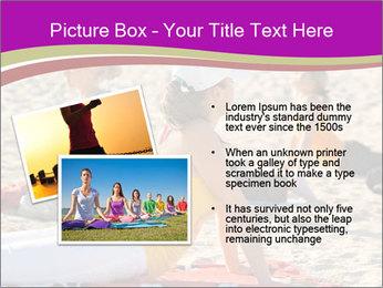 Women doing yoga PowerPoint Template - Slide 20