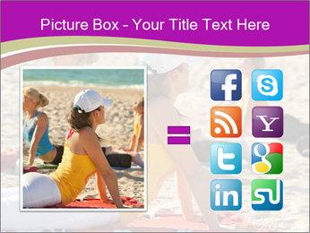 Women doing yoga PowerPoint Template - Slide 21