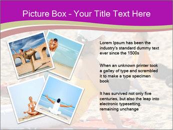 Women doing yoga PowerPoint Template - Slide 23