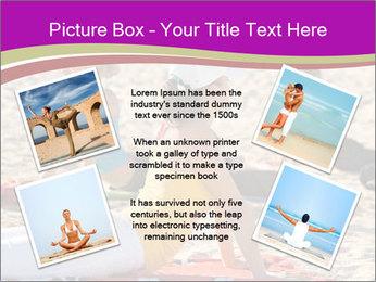 Women doing yoga PowerPoint Template - Slide 24