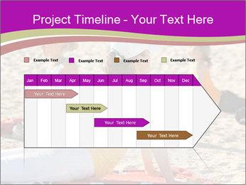 Women doing yoga PowerPoint Template - Slide 25