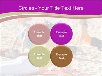 Women doing yoga PowerPoint Template - Slide 38