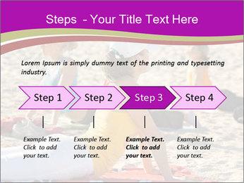 Women doing yoga PowerPoint Template - Slide 4