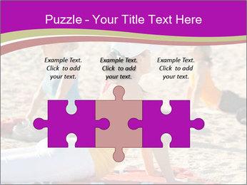 Women doing yoga PowerPoint Template - Slide 42
