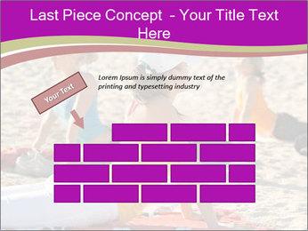 Women doing yoga PowerPoint Template - Slide 46