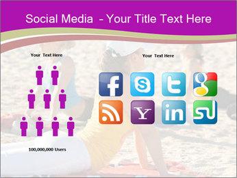Women doing yoga PowerPoint Template - Slide 5