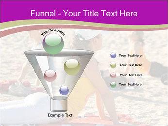 Women doing yoga PowerPoint Template - Slide 63