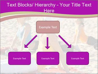 Women doing yoga PowerPoint Template - Slide 69