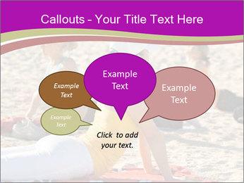 Women doing yoga PowerPoint Template - Slide 73