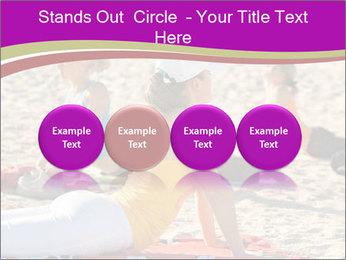 Women doing yoga PowerPoint Template - Slide 76