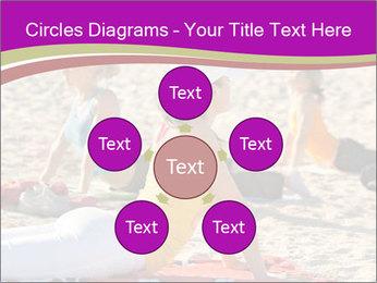 Women doing yoga PowerPoint Template - Slide 78