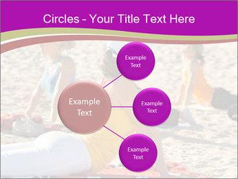 Women doing yoga PowerPoint Template - Slide 79