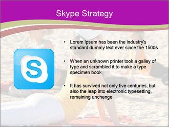 Women doing yoga PowerPoint Template - Slide 8