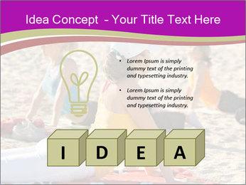 Women doing yoga PowerPoint Template - Slide 80