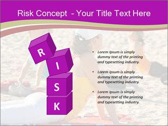 Women doing yoga PowerPoint Template - Slide 81