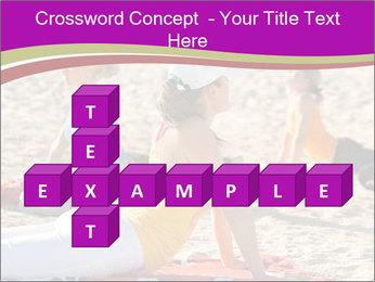Women doing yoga PowerPoint Template - Slide 82
