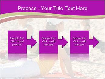 Women doing yoga PowerPoint Template - Slide 88