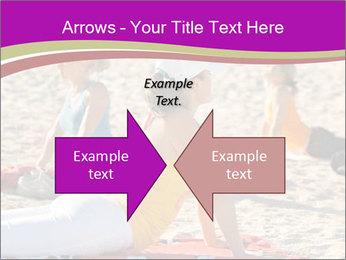 Women doing yoga PowerPoint Template - Slide 90