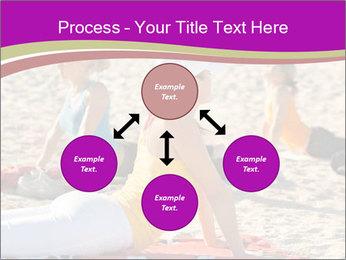 Women doing yoga PowerPoint Template - Slide 91