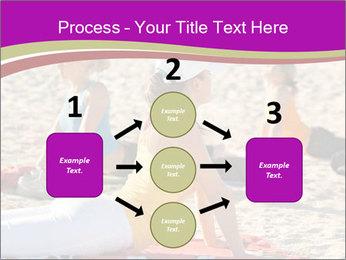 Women doing yoga PowerPoint Template - Slide 92